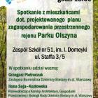 Plan zagospodarowania przestrzennego rejonu Parku Olszyna
